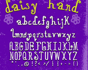 """FONT """"Daisy Hand"""" handmade limited time pricing"""