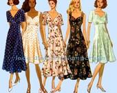 Butterick 3307 Womens Feminine Raised Waist Dress size 6 8 10 12 Bust 30.5-34 Sweetheart Neckline Very Easy Vintage Sewing Pattern Uncut FF