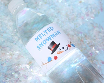 Melted Snowman Water Labels