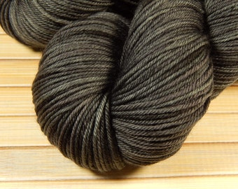 Hand Dyed Yarn - Sport Weight Superwash Merino Wool Yarn - Slate Grey Tonal - Knitting Yarn, Sock Yarn, Wool Yarn, Tonal Yarn, Gray Grey
