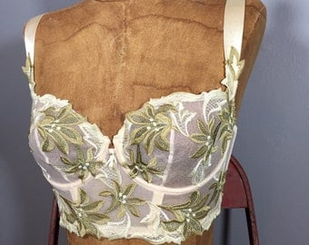 Vintage 1970's Lady of the Wood Sheer Bustier Top XS