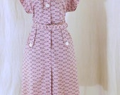 Vintage Plus size late 50s day dress size XL
