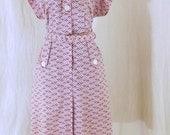 Vintage Plus size late 50s day dress size XL