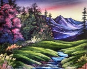 Purple Mountains Majesty, an original oil painting