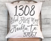Christmas Gift Housewarming Gift Pillow Cover Personalized Large Address