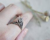 Papaver silver ring / AMARANTA Collection