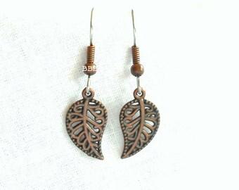 SALE Leaf Earrings