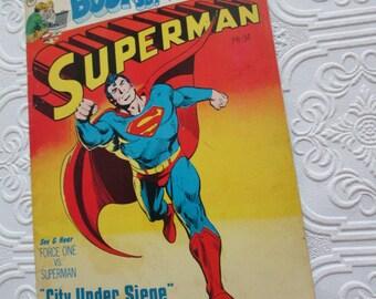 Superman Book & Record CITY UNDER SIEGE pr-34 - Missing Record