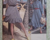 Misses Loose-fitting Dress with Blouson Bodice and Flared Skirt Sizes 20 22 24 Vintage 1990's Vogue Pattern 8392 UNCUT