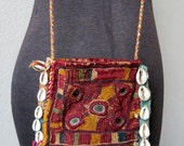 Antique Tribal Rajasthani Banjara Mirror Embroidery Medicine Pouch Bag