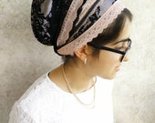 Fancy Pink headcovering,Hair Covering,jewish headcovering,Scarf,Hair Snood, Head Scarf