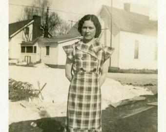 "Vintage Photo ""Mary Ann"" Pretty Girl Snapshot Photo Old Antique Photo Black & White Photograph Found Photo Paper Ephemera Vernacular - 31"