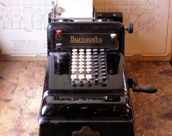 Vintage Burroughs Adding Machine - Retro Office Decor from 1922