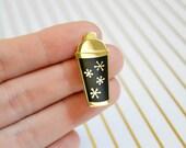 Atomic Cocktail Shaker Enamel Pin - Hard Enamel Pin - Cloisonné Pin - Lapel Pin - Pin Badge - Bartender - Black - Vintage Inspired Pin