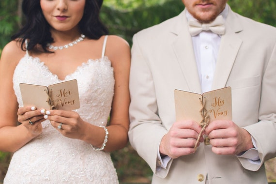 Vow Books His Vow Book Her Vow Book Rustic Wood Vow Book Set His and Her Vows Notebook Set Bridal Shower Gift Rustic Wedding