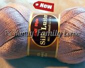 "Lyocell Viscose Yarn ""Silk Shine"". Eucalyptus fiber Eucalyptus Viscose. Old rose color."