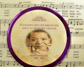 Maya Angelou Quote, Art Magnet, Large Magnet - 3.50 Inches, Maya Angelou Gifts, Black History, African American Women in History