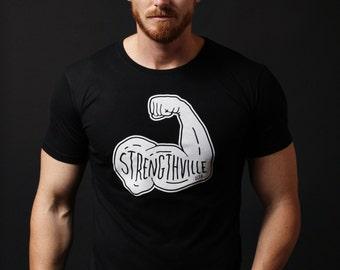 Men's T-shirt Sale -Men's Black T-shirt - Short black sleeve t-shirt. soft mens crew neck t-shirt black. gym inspired t-shirt - gym tee