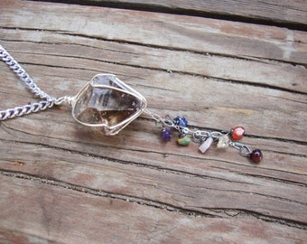 Chunky smokey quartz Chakra balancing and charging healing necklace