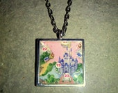 Disney World Map Tile Necklace
