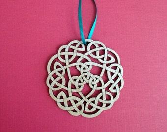 Merry Christmas Celtic Knot Christmas Tree Ornament