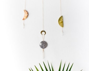 Brass Wall Hanging   Moon Phases Wall Art   Sweet Dreams
