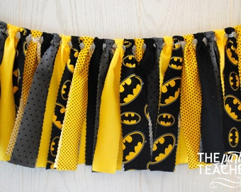 Batman Fabric Bunting - FREE Shipping - Batman Fabric Garland - Batman Garland - Batman Bunting - Batman Banner - Batman Party