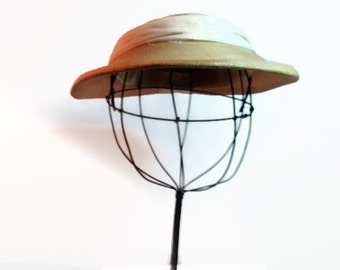 Vintage Boater Hat Panama Straw 1940s