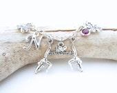 Gymnastics Charm Bracelet, Gymnast Bracelet, Gymnastics Gifts, I Love Gymnastics