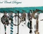 "16"" Necklace Organizer / Hanger ...Distressed Rustic...Choose Your Color...Jewelry Hanger/Display...Closet Bathroom & Kitchen Storage"