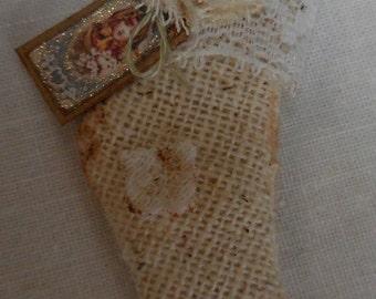 ooak miniature dollhouse stocking (D)