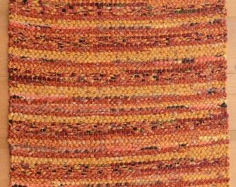 Hand Woven Table Runner -  Sunny Autumn Cotton 13.5 x 26