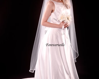 Waltz length Wedding Veil, 1 Tier waltz bridal veil, 54 inches long
