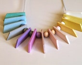 Geometry jewelry Geometry NECKLACE Geometric necklace Tribal necklace handmade Wooden jewelry Mothers day gift for her Abstract necklace