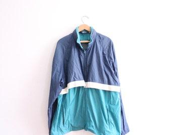 Baggy Colorblock 90s Sporty Windbreaker Jacket