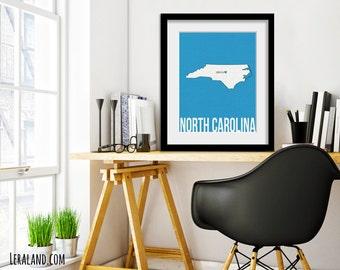 I love Chapel Hill, North Carolina, NC, 11x14 or 8x10, customizable city, I heart poster, digital art print, modern home decor state art