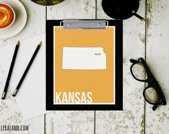 I love Topeka, Kansas, KS, 11x14 or 8x10, customizable city, I heart pop art poster, digital art print, modern home decor state art
