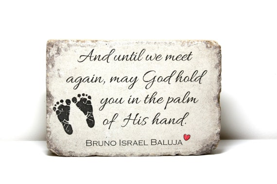 Miscarriage Memorial Stone Personalized Gift 6x9 Tumbled