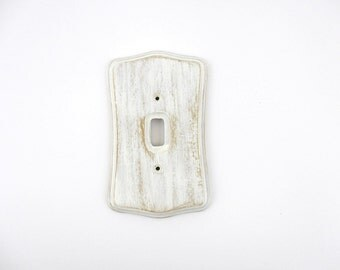 Shabby Switch Plate, Rustic Light Switch Cover, Primitive Switch Plate, Wood Switch Plate, Hand Painted Switch Plate, Painted Outlet Cover