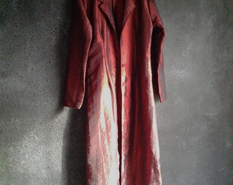 Red Fitted Duster