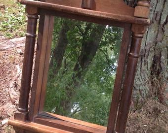 Vintage Small Wood Mirror, Paint to Order Mirror, Custom Painted, Decorative Mirror, Bathroom Mirror, Wall Mirror, Vanity Mirror, Rustic