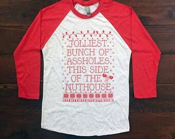 Christmas Vacation. Red Baseball Tee. Christmas Vacation Shirt. Griswold Baseball Tee. Christmas Shirt. Christmas Stocking. Christmas Gift.