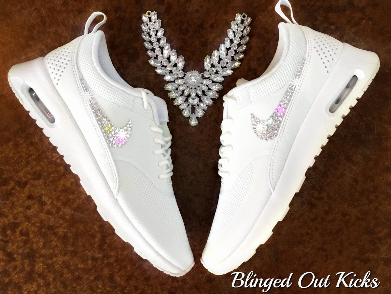 Womens Nike Air Max 90 Ultra White Custom Bling Crystal