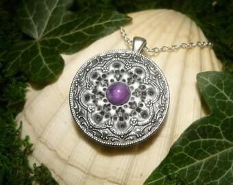 Amethyst Amulet - fantastic handmade Pendant