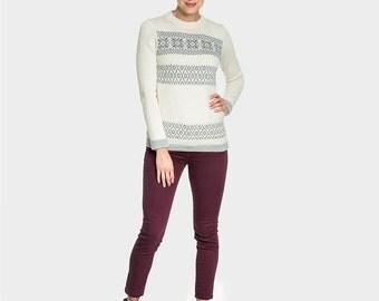 Baby Alpaca Wool Nordic Sweater | Knit Alpaca Sweater | Knit Nordic Jumper