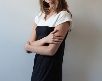 Black and white short dress, mini dress, short dress, summer dress, casual dress, day to night dress, knit dress
