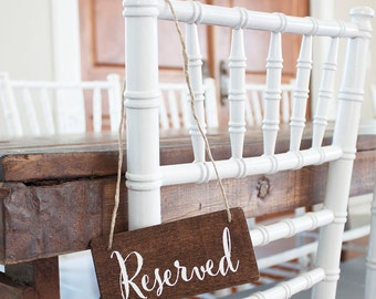 Wedding Reserved Sign - Many Fonts and Colors Available