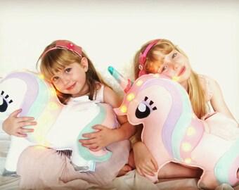 Light up Unicorn, girls room decor, gift for girls, kids room decor, nursery decor