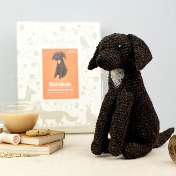 Black Labrador Crochet Kit Amigurumi Crochet Labrador Kit
