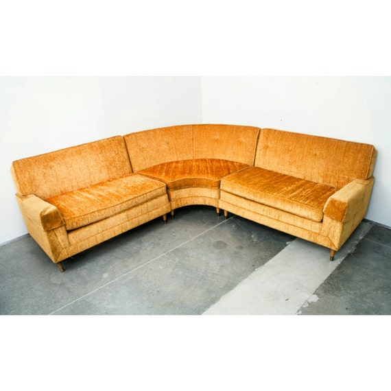 Sold Mid century modern Sectional Sofa by MidCenturySacramento